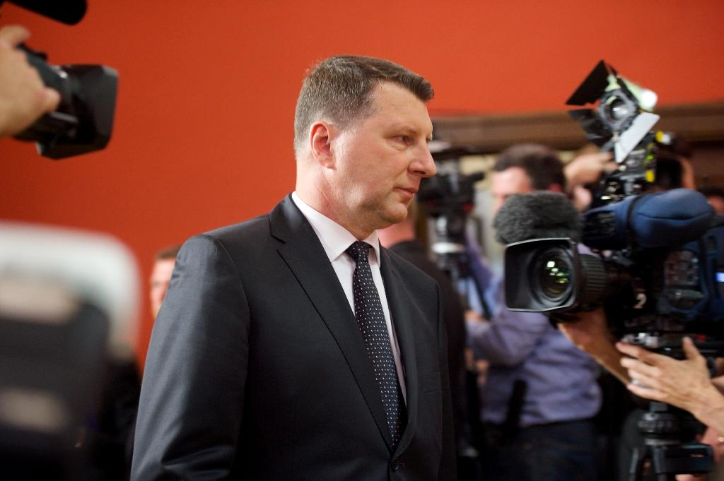 Raimonds Vejonis is a biologist and longtime Green party politician who also served as Latvia's environment minister before taking over the defence portfolio (AFP Photo/Ilmars Znotins)