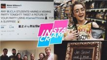 Instacram: Maisie Williams Crashes a 'Game of Thrones' Viewing Party Because She's Awesome