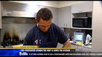 San Diego firefighter stands the heat and loves the kitchen