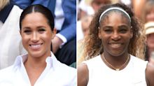 Serena Williams Refuses to Answer Question About Pal Meghan Markle — But Tells Reporter, 'Good Try'