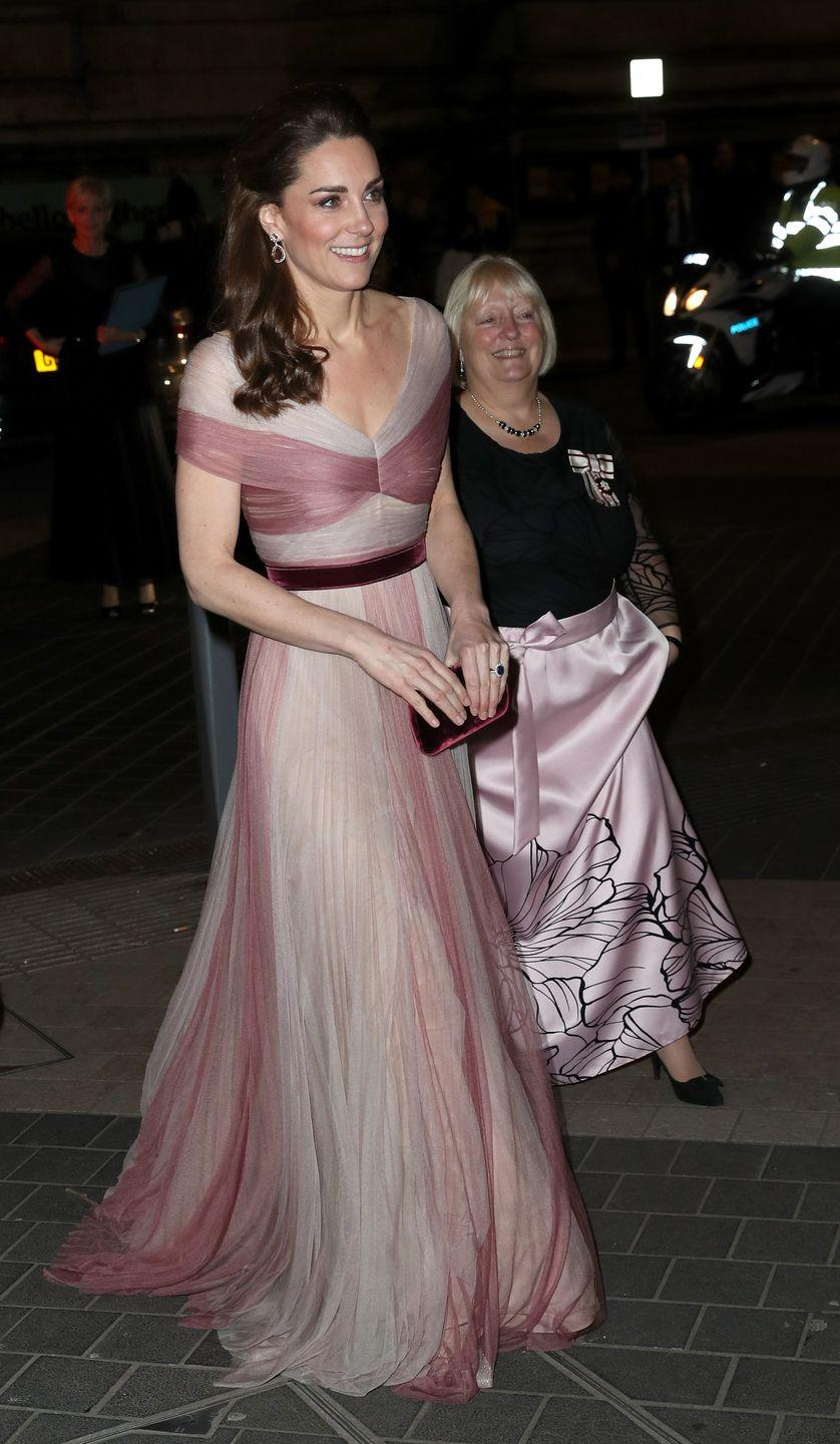 a1ec602866c9 Kate Middleton Just Arrived at the V&A Wearing a Stunning Rose-Colored  Gucci Gown