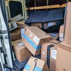 An Amazon driver quit in frustration in a tweet and abandoned a van full of packages at a gas station