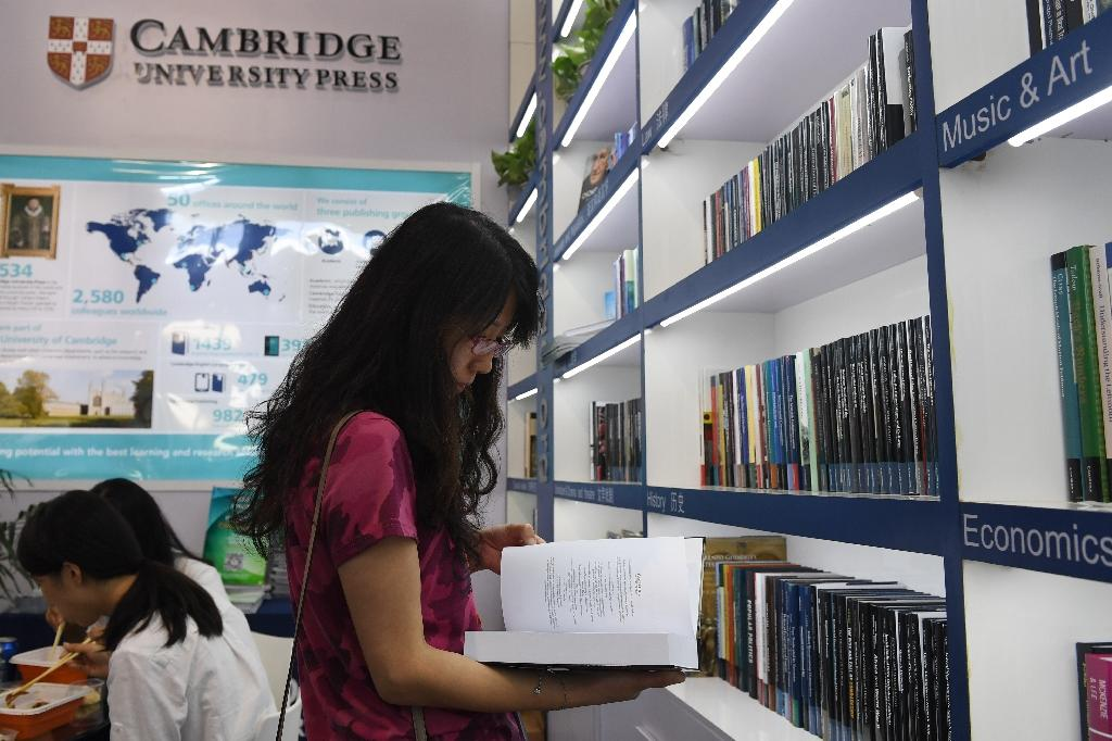 Some publishers participating in the fair said the uproar has created an atmosphere of anxiety about censorship. (AFP Photo/Greg Baker)
