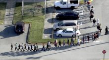 Florida students walked out of class today and marched toward Marjory Stoneman Douglas High