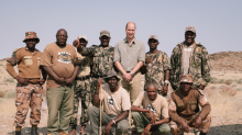 Prince William's 5am wake-up call as he tracks rhinos in Namibia