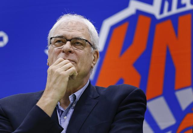 Knicks president Phil Jackson is being cryptic again. (AP)