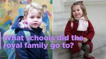 What schools did the royal family go to?