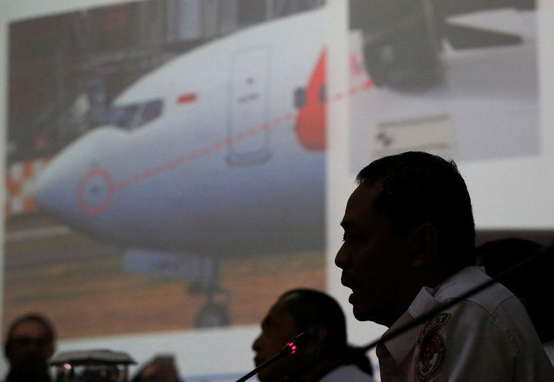 Indonesia's National Transportation Safety Committee (KNKT) sub-committee head for air accidents, Nurcahyo Utomo, speaks during a news conference on its investigation into a Lion Air plane crash last month, in Jakarta