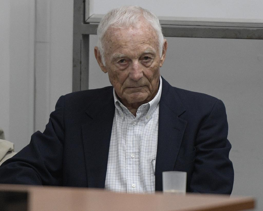 "Former Ford executive Pedro Muller, pictured in court in Buenos Aires, was jailed for 10 years for collaborating in the military dictatorship's ""dirty war"" (AFP Photo/Juan MABROMATA)"
