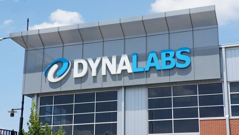 The headquarters of testing firm DYNALABS are seen in St Louis