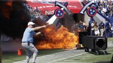Fire on field for Titans-Colts pregame introductions quickly extinguished