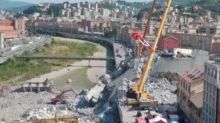 Crews Work to Stabilize, Dismantle Collapsed Genoa Bridge