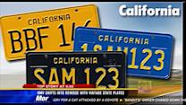 DMV shifts into reverse with vintage state plates