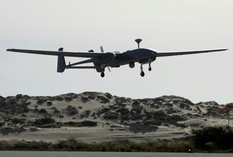 Israel's pioneering unmanned aircraft long dominated the skies over the Middle East but its foes are now challenging its drone supremacy (AFP Photo/DAVID FURST)