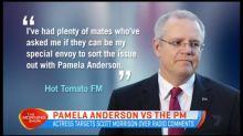 Scott Morrison feuds with Pamela Anderson
