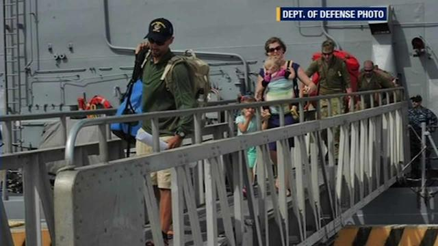 San Diego family returns after rescue at sea