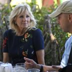 Jill Biden tells English surf therapy group about her board