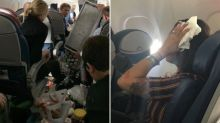 Three people hospitalised after plane 'nose dives twice' before emergency landing