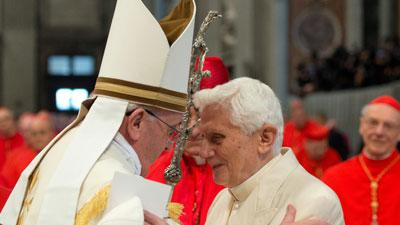 Benedict Joins Francis in Historic 1st Ceremony