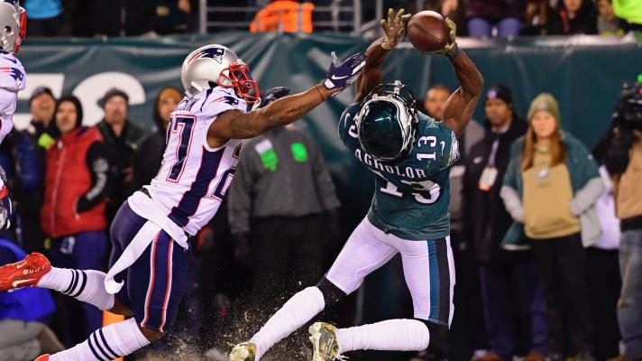 Eagles' Nelson Agholor can't make tough, game-tying catch against the Patriots