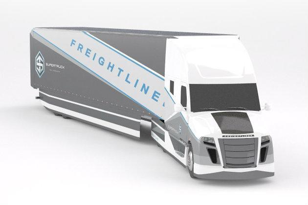 Futuristic 'SuperTruck' doubles the MPG of other semis