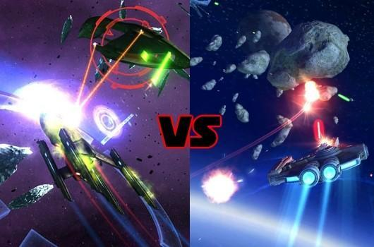 Leaderboard: Free-form space combat vs. on-the-rails shooter