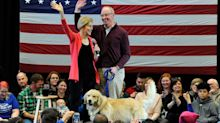 Elizabeth Warren Introduces Supporters to the Other Man in Her Life — Bailey the Golden Retriever