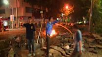 Raw: Rescuers at Taiwan Explosion Scene