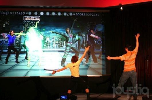 DanceMasters, a new dance game from the Dance Dance Revolution team, has dancing