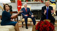Oval Office meeting turns hectic amid border wall discussion