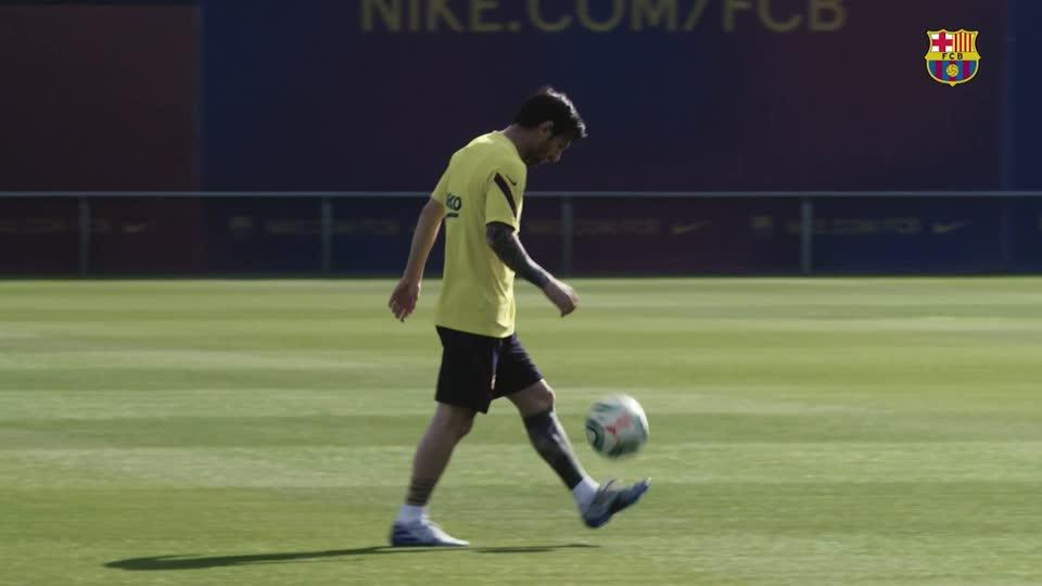 Barca back in training