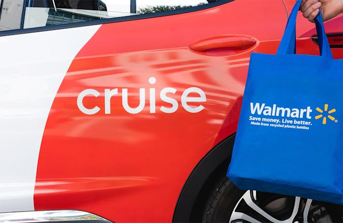 Cruise and Walmart self-driving delivery electric car