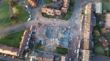Aerial footage shows devastation of huge explosion that flattened a restaurant and dance studio