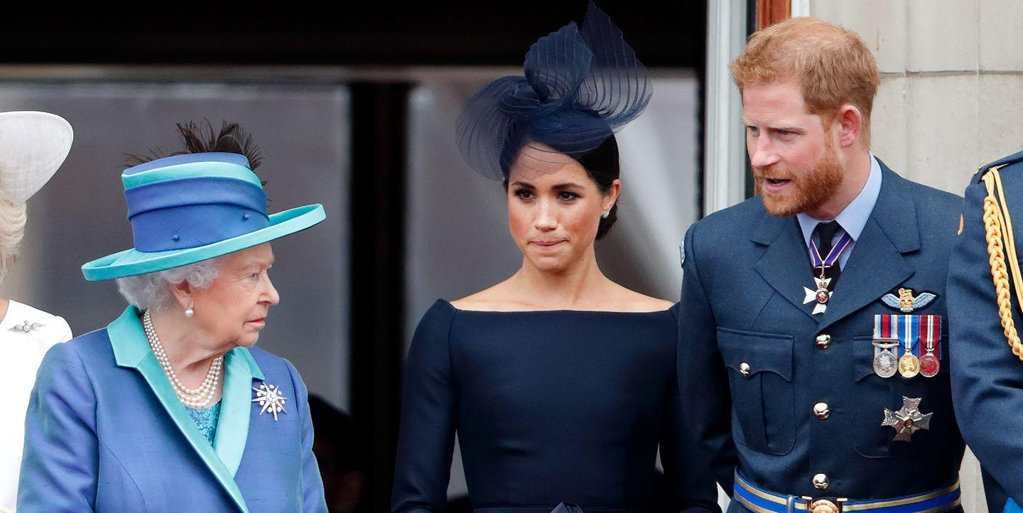 The Queen Reportedly Shut Down Prince Harry's Demand That Meghan Markle Get Her Way on Her Wedding Day
