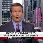 Record 12 candidates to take part in next Dem debate