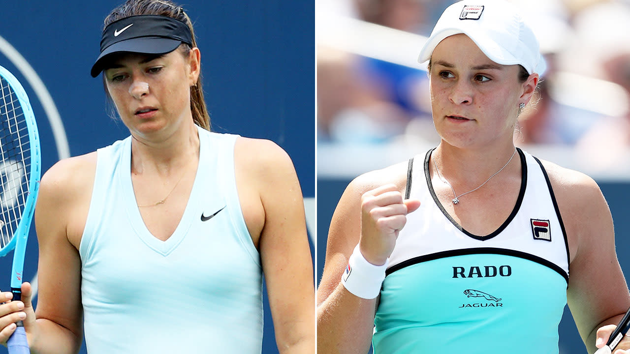'Seriously good': Ash Barty takes down Maria Sharapova to get back on track