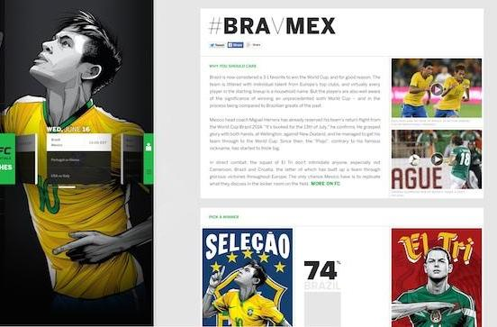 Microsoft and ESPN make vital World Cup info pretty to look at
