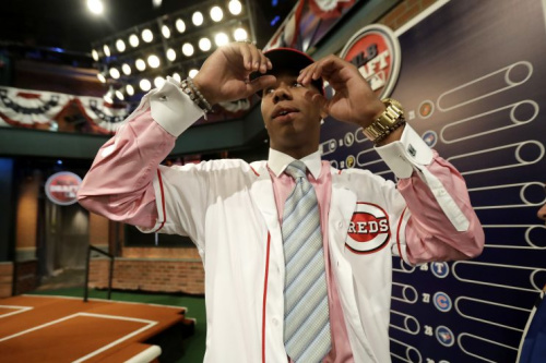 Hunter Greene will focus on pitching, but the Reds want to use him as a hitter as well. (AP Photo)