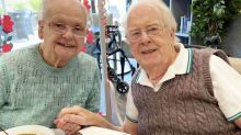 Devoted wife surprises dementia-stricken husband by moving into his care home