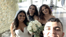 Selena Gomez Was a Stunning Maid of Honor in a Black Off-the-Shoulder Dress at Her Cousin's Wedding