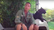 A Florida man was scalped by a black panther after he paid $150 for an illegal 'full contact' experience at a backyard animal sanctuary