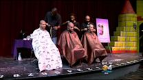 Several Students Shave For Sophia, A 2-Year-Old Battling Cancer