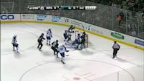 Pavelski bats it past Pavelec on the doorstep