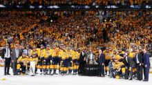 Did the Nashville Predators touch conference trophy, tempt fate?