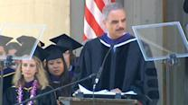 Eric Holder addresses UC Berkeley Law graduates