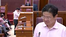 Lawrence Wong breaks down while paying tribute to 'unsung heroes' fighting COVID-19
