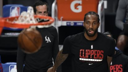 Kawhi working on music, with special angle