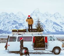 Van, RV, and bus dwellers share how they decorate their tiny homes on wheels for the holidays