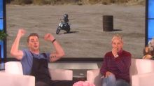 Dax Shepard taught his 4-year-old daughter to ride a motorcycle