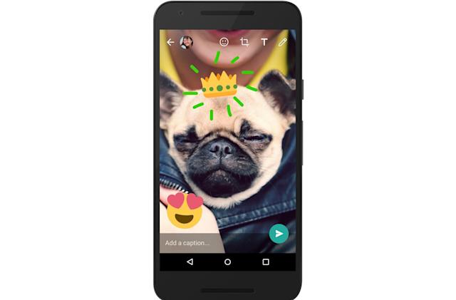 WhatsApp lets you doodle on photos and videos